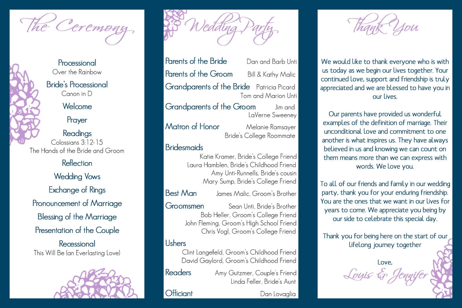 Trifold Wedding Program Template Wedding Design Gallery Category Page 53 Designtos