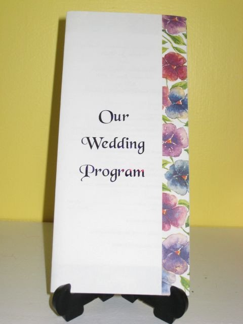 Trifold Wedding Program Templates Free Tri Fold Wedding Program Template From