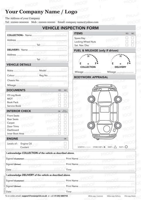 Truck Inspection form Template Vehicle Inspection Sheet Template Vehicle Inspection Poc