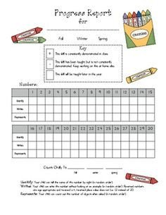 Tutoring Progress Report Template 1000 Images About Progress Reports On Pinterest