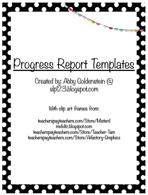 Tutoring Progress Report Template Schoolhouse Talk Freebie Progress Report Templates