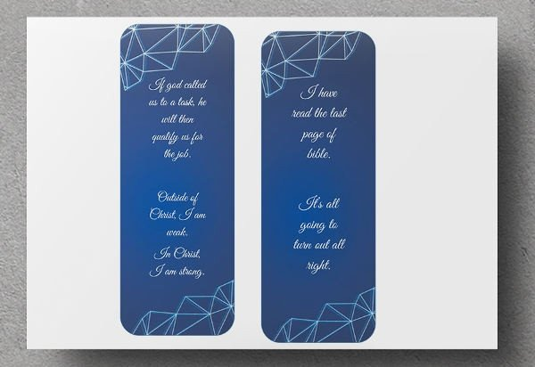 Two Sided Bookmark Template 24 Free Graphic Designs January 2017