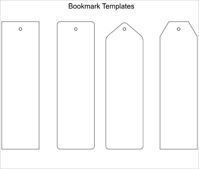 Two Sided Bookmark Template Bookmark Template