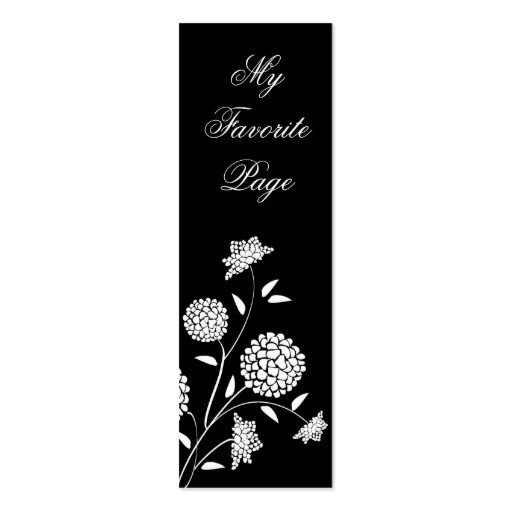 Two Sided Bookmark Template Floral Fantasy Double Sided Bookmark Business Card