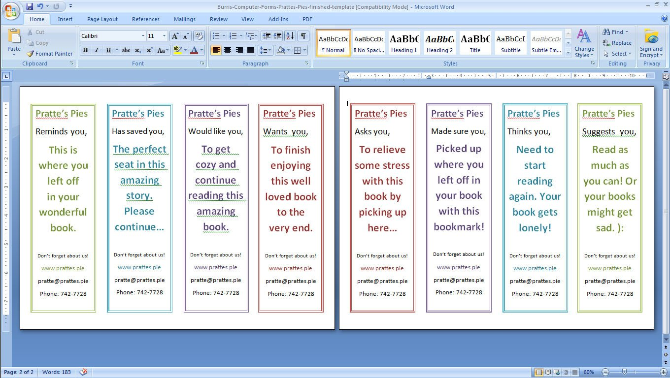 Two Sided Bookmark Template How to Design and Print Your Own Bookmarks