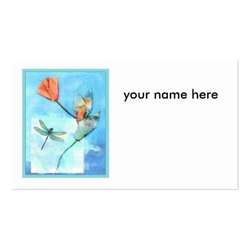 flower card template Double Sided standard business cards