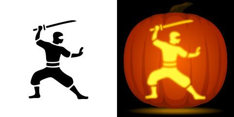 Ucf Pumpkin Stencil Ninja Pumpkin Carving Stencil Free Pdf Pattern to