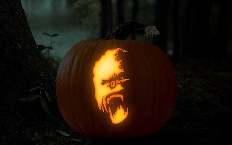 Ucf Pumpkin Stencil Universal orlando Close Up