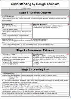Udl Lesson Plan Template 1000 Images About Udl Ubd Di On Pinterest