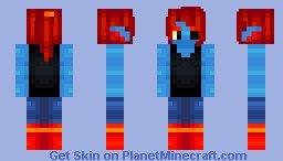 Undyne Minecraft Skin Eevee Girl Minecraft Skin