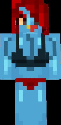 Undyne Minecraft Skin Underfell