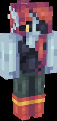 Undyne Minecraft Skin Undertale