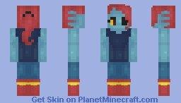 Undyne Minecraft Skin Undertale Skins Minecraft Collection