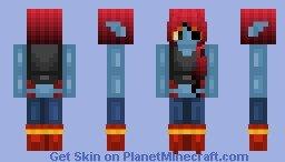 Undyne Minecraft Skin Undyne Requested Minecraft Skin