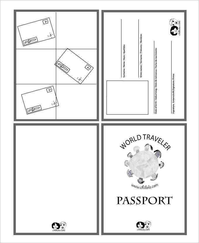 Us Passport Photo Template Blank Passport Templates Word Excel Pdf