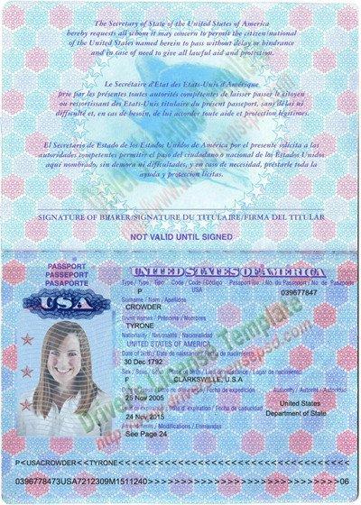 Us Passport Photo Template Drivers License Fake Drivers License Drivers License