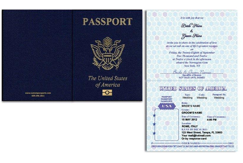 Us Passport Photo Template Passport 46 Standard Passport Custom Passport Invitations