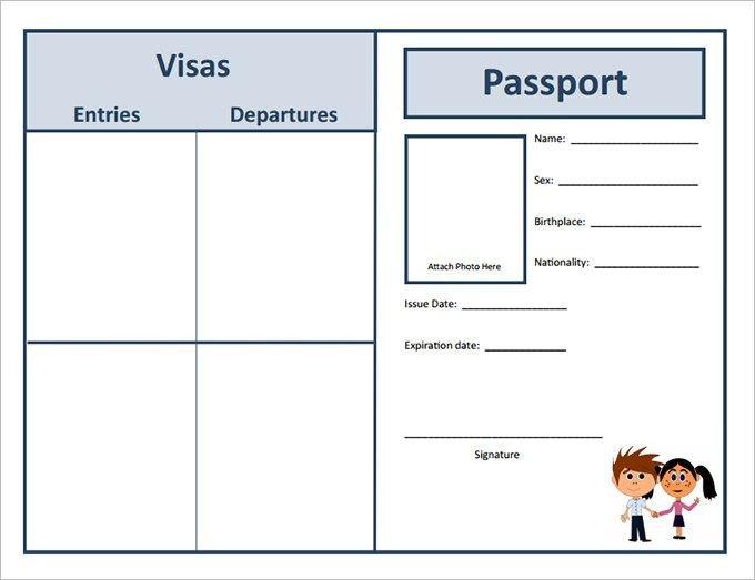 Us Passport Photo Template Passport Template – 19 Free Word Pdf Psd Illustrator