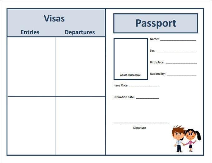 Us Passport Photo Template Passport Template