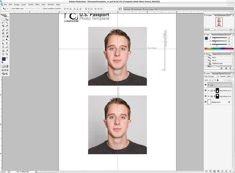 Us Passport Photo Template Shop Passport Template V1 1