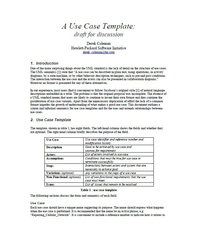 Use Case Templates Word 40 Use Case Templates & Examples Word Pdf Template Lab
