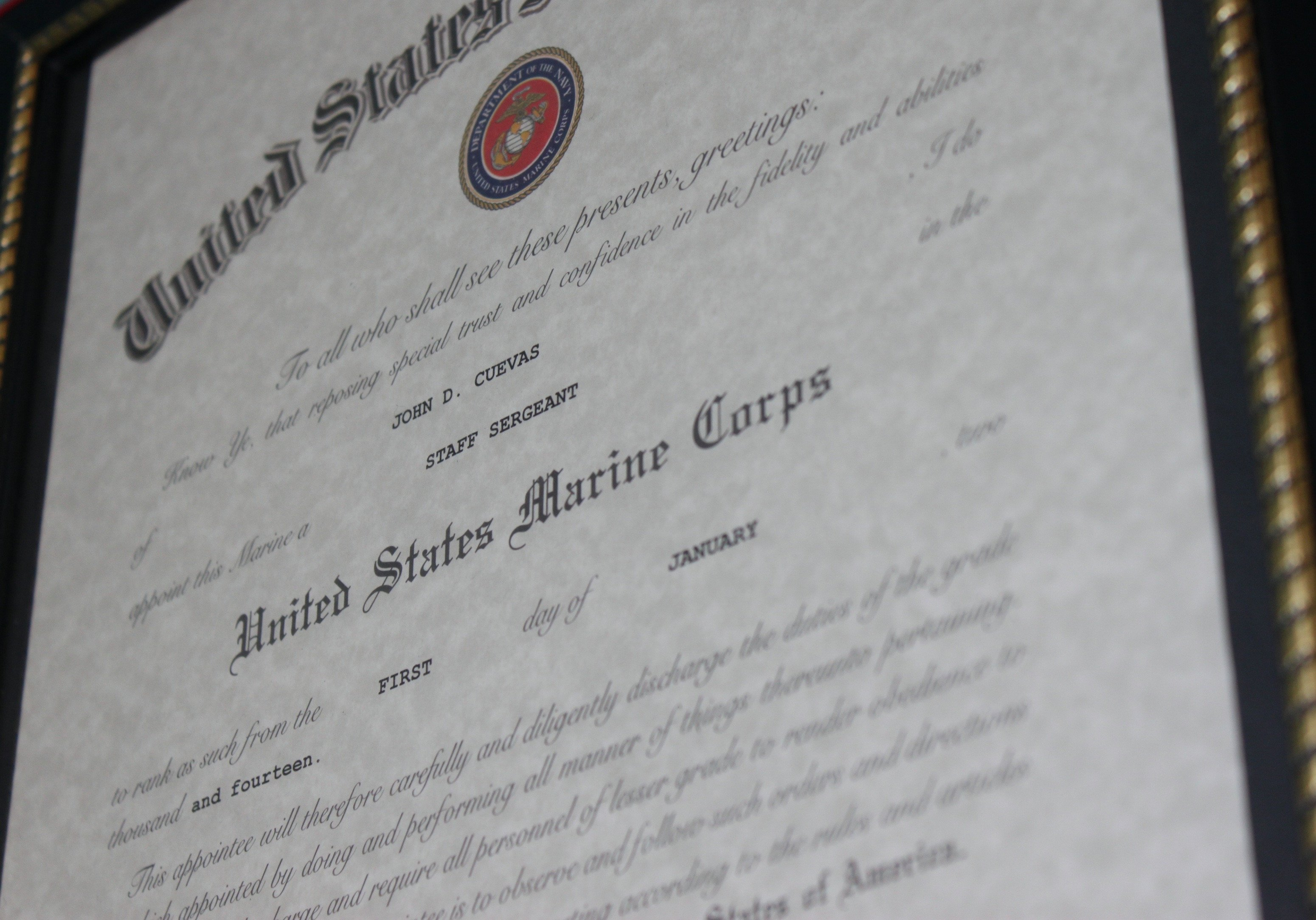 Usmc Promotion Warrant Template Marine Corps – the Fameless Woodworker