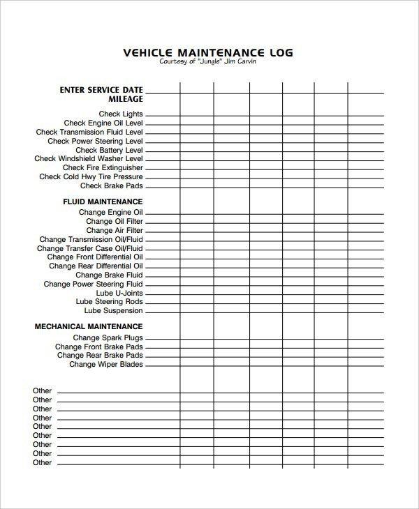 Vehicle Maintenance Log Excel Image Result for Excel Vehicle Maintenance Log