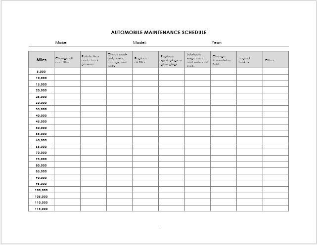 Vehicle Maintenance Log Excel Ms Excel Vehicle Log Book Template