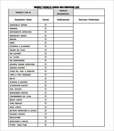 Vehicle Maintenance Log Excel Vehicle Maintenance Log 7 Free Pdf Excel Documents