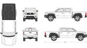 Vehicle Wrap Templates Free Downloads 25 Of Crew Cab Truck Diagram Template