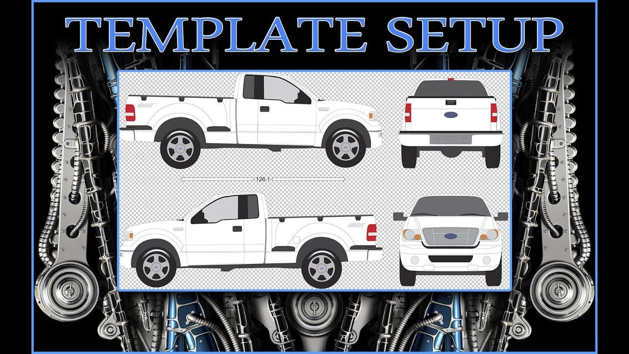 Vehicle Wrap Templates Free Downloads Vehicle Wrap Template Setup