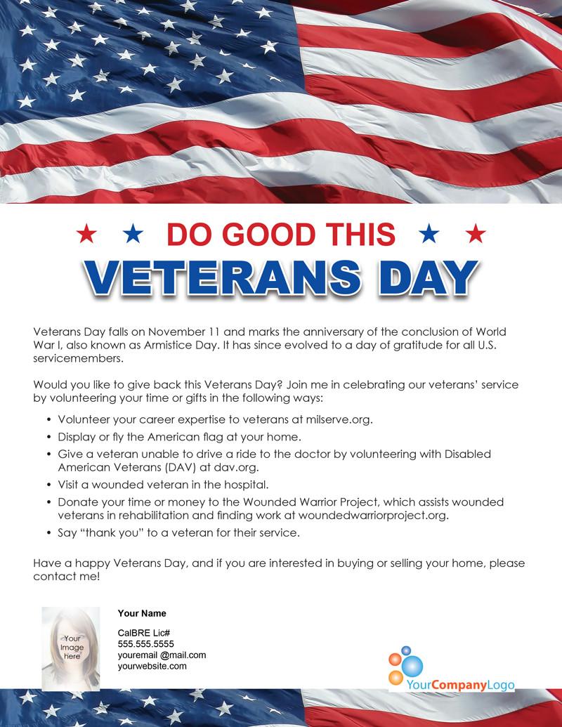 Veterans Day Program Template Farm Do Good This Veterans Day