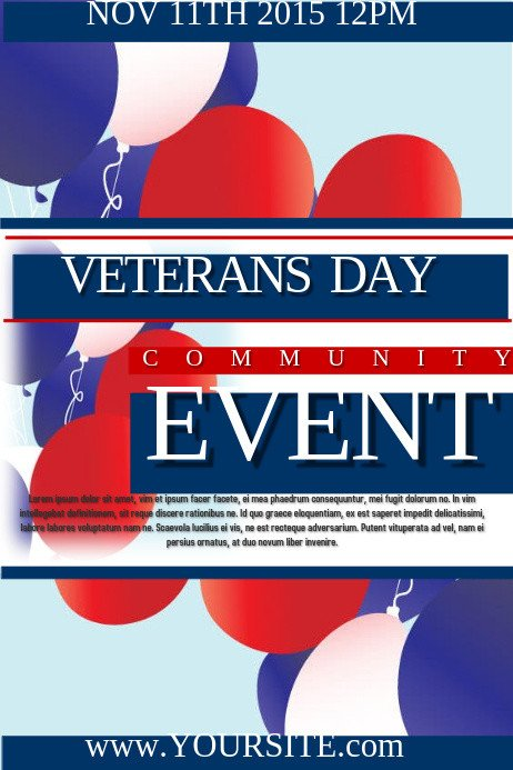 Veterans Day Program Template Veterans Day event Template