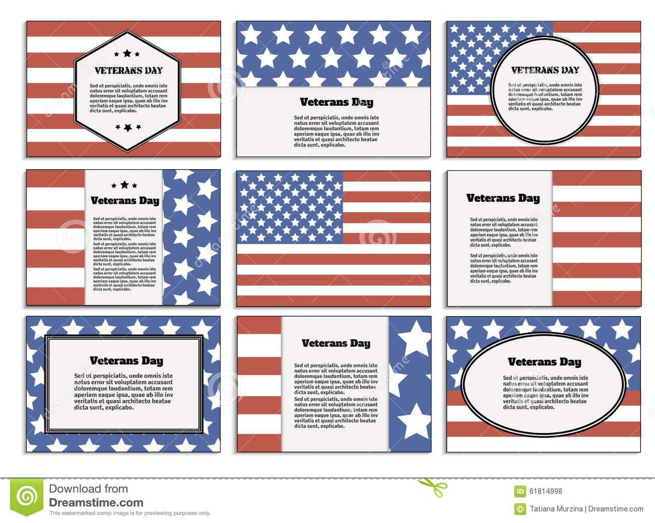 Veterans Day Program Template Veterans Day Poster Brochure Stock Vector Image