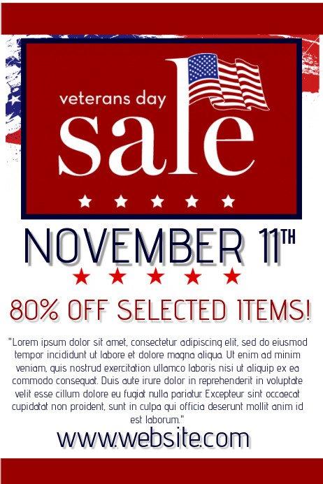 Veterans Day Program Template Veterans Day Retail Template