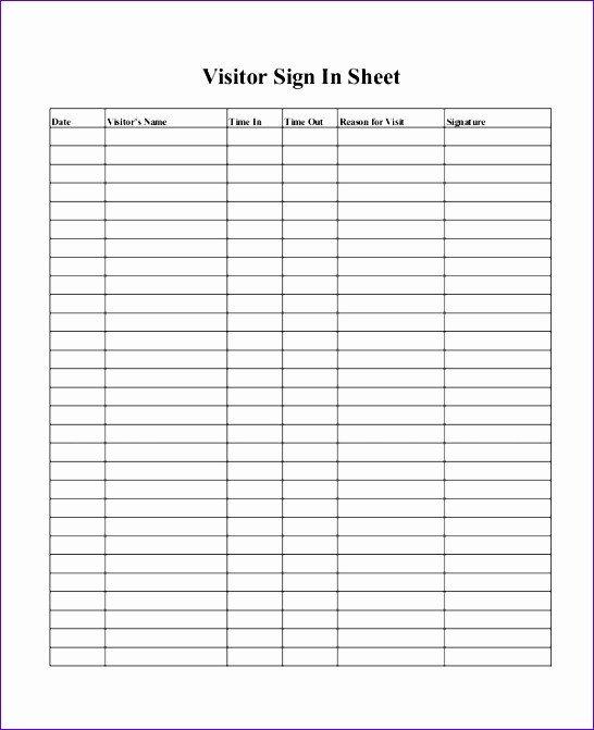 Visitor Log Template Excel 10 Visitor Log Template Excel Exceltemplates