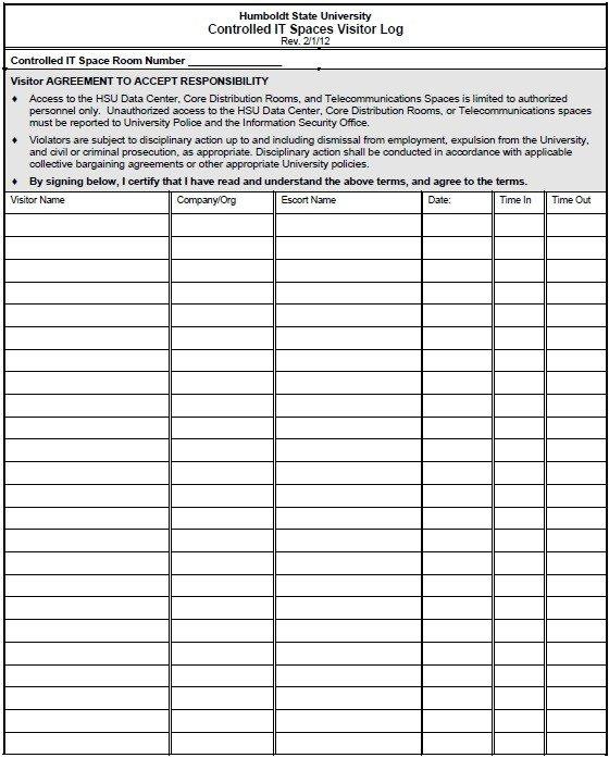 Visitor Log Template Excel 13 Free Sample Visitor Log Templates – Printable Samples