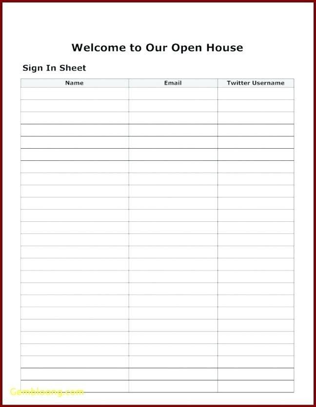 Visitor Log Template Excel 15 Visitors Sign In Sheet
