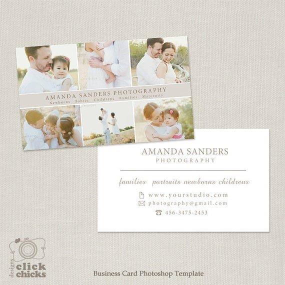Vistaprint Business Card Photoshop Template Graphy Business Card Template for Graphers 004