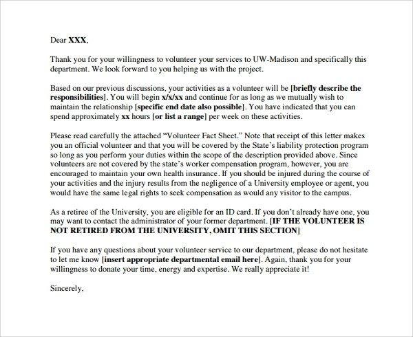 Volunteer Letter Of Appreciation Sample Volunteer Thank You Letter 9 Download Free