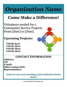 Volunteer Recruitment Flyer Template 1000 Images About Printable On Pinterest