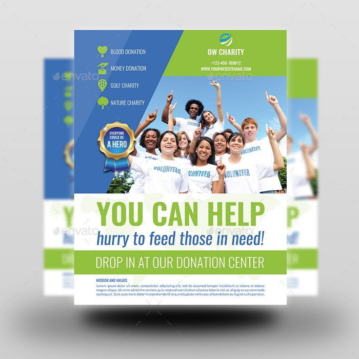 Volunteer Recruitment Flyer Template Volunteer Advertising Bundle by Ow