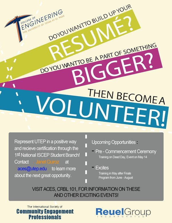 Volunteer Recruitment Flyer Template Volunteers – association for Puting Machinery