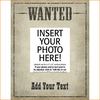 Wanted Poster Template Free 5 Wanted Poster Template Free