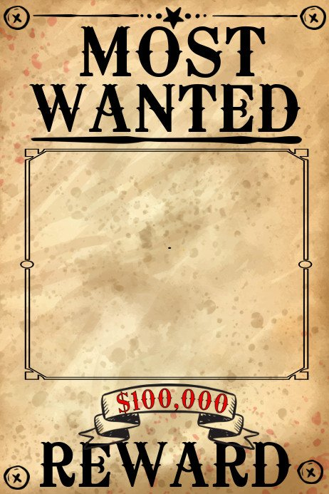 Wanted Poster Template Free Blank Wanted Poster Template