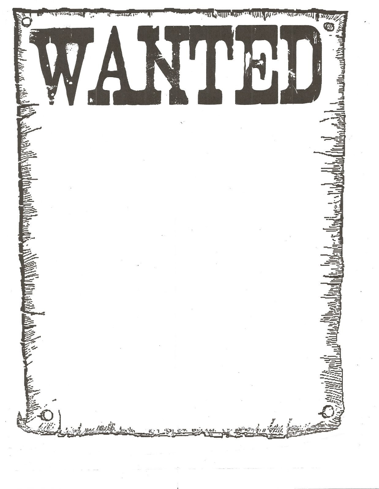 Wanted Poster Template Free Printable Wanted Poster Classroom Freebies