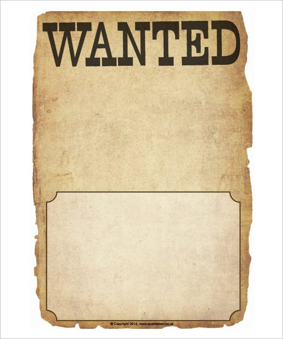 Wanted Poster Template Free Printable Wanted Poster Template 34 Free Printable Word Psd