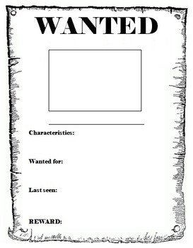 Wanted Poster Template Free Printable Wanted Poster Template by Miss Db