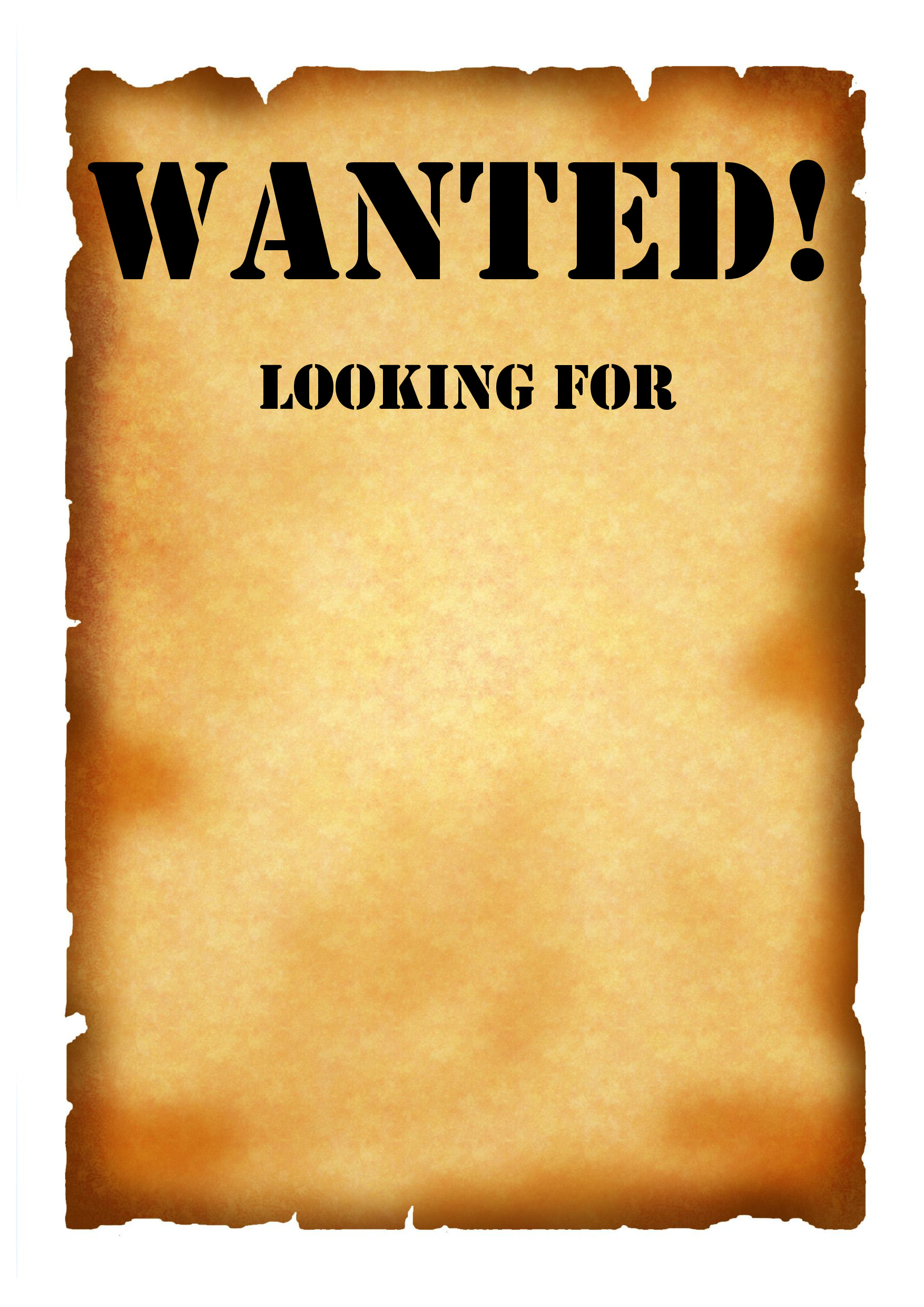 Wanted Poster Template Free Printable Wanted Poster Template