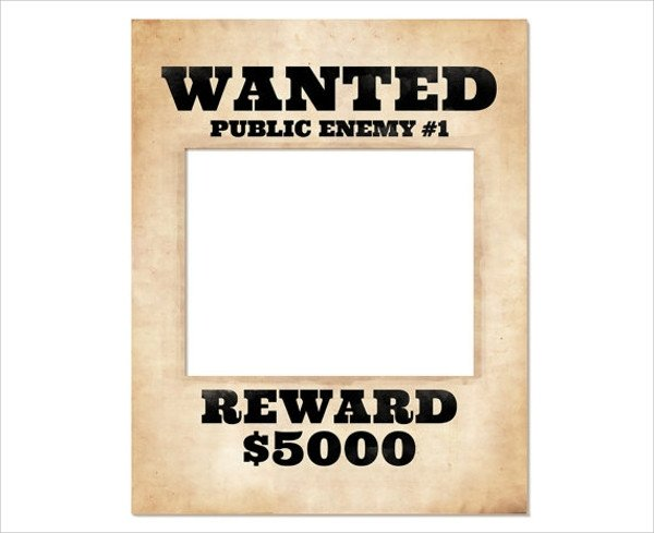 Wanted Poster Template Free Wanted Poster Template 20 Download Documents In Psd